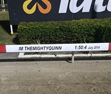 Im Themightyquinn's track record in the 2014 Sunshine Sprint has been memorialised in Albion Park's running rail